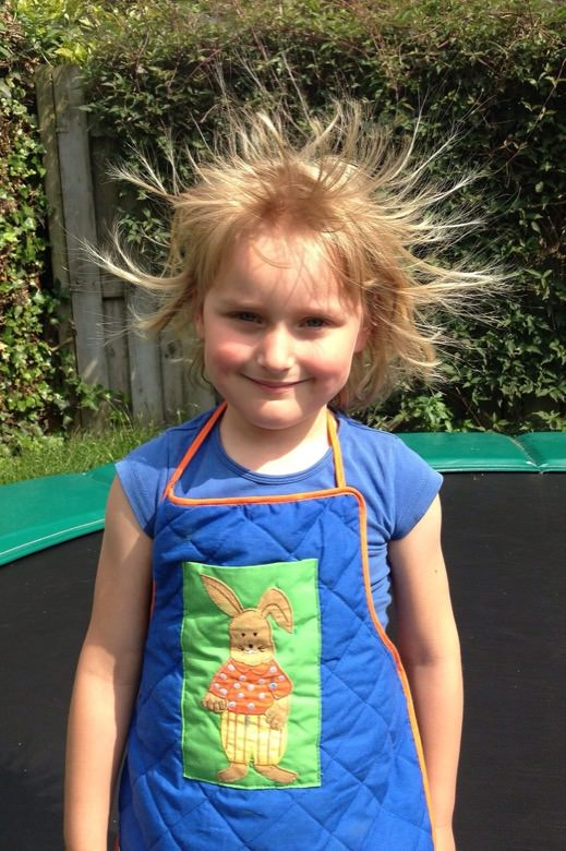 The hair with static electricity1
